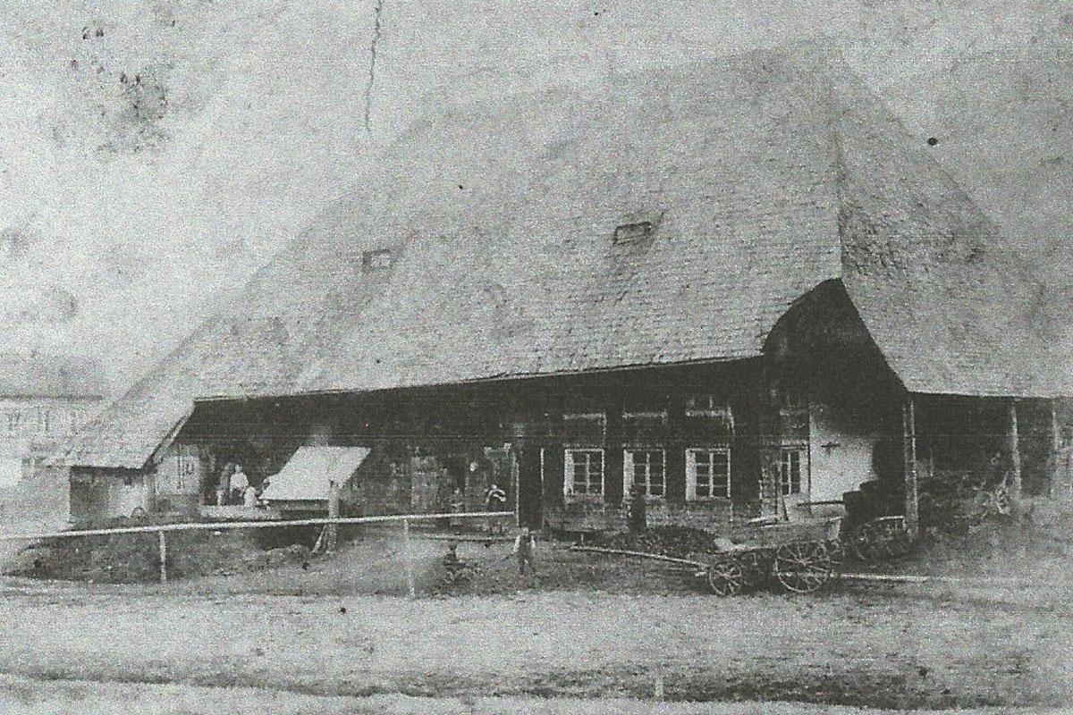 Der Seilerhansenhof vor dem Brand