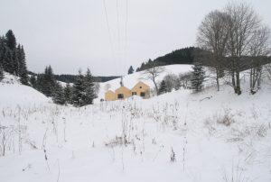 Ansicht Gebäude im Winter