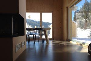 Ausblick vom Sofa, Wohn-/Essbereich