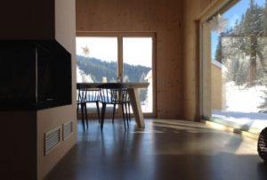 Ausblick vom Sofa, Wohn/Essbereich