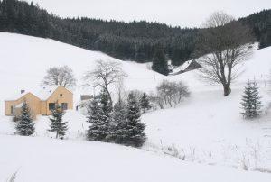 Ferienhaus im Winter am früheren Seilerhansenhof
